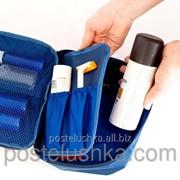 Органайзер дорожный для косметики с отстегивающимся кармашком ORGANIZE Синий фото