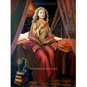 Жанровая картина маслом на льняном холсте, портрет фото