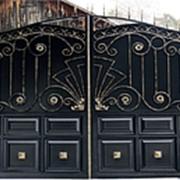 """Кованые распашные ворота """"Версаль"""" фото"""