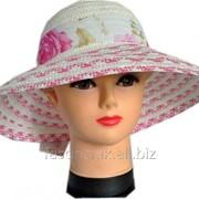 Женская Шляпа соломенная. Летние шляпки. 3-058 фото