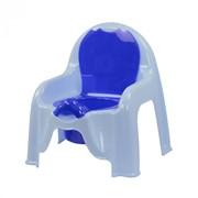 Горшок-стульчик детский (голубой) фото