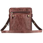 """Кожаная сумка """"Феликс"""" (коричневый антик) фото"""