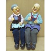 Бабушка, дедушка большие-фигурка с висячими ножками, 2 вида в ассорт., арт. 8678АВ фото