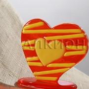 Сувенир из стекла Сердечко артикул AF 0002 005 фото