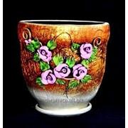 """Горшок для цветов из керамики ручной работы """"Велетень розы"""" фото"""