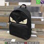 Рюкзак Fendi Monster Черный Фенди с глазами фото