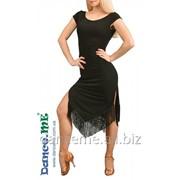Dance ME Платье женское ПЛ260, масло / бахрома, черный фото