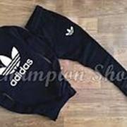 Мужской спортивный костюм Adidas, черный, материал - хлопок фото