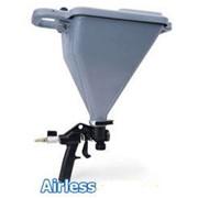 Распылитель с бункером TexSpray ™ на 5,5 литра, для нанесения порошковых материалов и готовых смесей.Окрасочное оборудование для работы с фактурными материалами фото