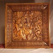 Деревяная икона Рождество фото