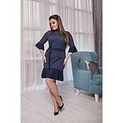 Платье женское с воланами темно синие (4 цвета) ВВ/-023 фото