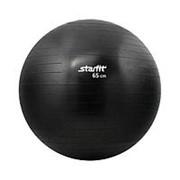 Мяч гимнастический Starfit GB-101 65 см антивзрыв, черный фото