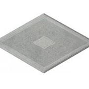 Тротуарная плитка Ромб узорный серая фото