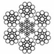 Канат стальной двойной свивки типа ЛК-О ГОСТ 3081-80 DIN 3058 6х19 (1+9+9)+7х7(1+6)