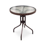Круглый стол из ротанга Ланди фото