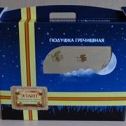 Подушка из лузги гречихи. Размер 50 х 40. Подарочная. фото