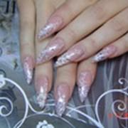Наращивание ногтей: аквариумный эффект в Алматы фото