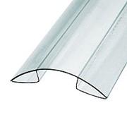 Профиль коньковый для поликарбоната 04-06x6000 мм б/цв. фото
