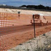 Защитное аварийное ограждение А-40/2/25 ячейка: Квадрат 40х45мм. Рулон: 2х25м оранжевого цвета. фото