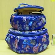 Набор шкатулок 2шт. для рукоделия с зеркалом круглая, арт. 046Ф фото