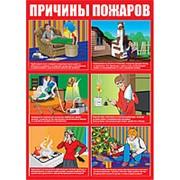 """Плакат """"Причины пожаров"""" - 1 л. фото"""
