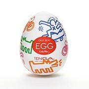 Мастурбатор-яйцо Keith Haring EGG STREET фото