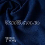 Ткань Трикотаж вязаный (темно-синий) 5245 фото