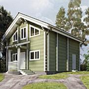 Проект 74, 98.0кв.м. Дом из профилированного бруса камерной сушки фото