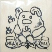 """Заготовка """"Мишка с медом """" на магните с контурами рисунка 6см*9см .Бук фото"""