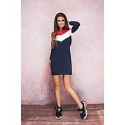 Платье женское в спортивном стиле - Синий фото