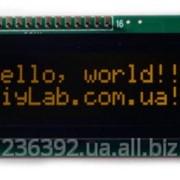 Символьний дисплей LCD 1602 HD44780 помаранчеві символи, чорний фон фото