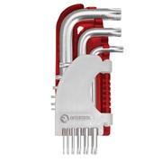 Набор Г-образных ключей TORX 9 шт., Т10-Т50, Cr-V, Small INTERTOOL HT-1821 фото