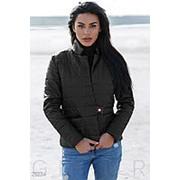Оригинальная женская куртка-жакет на застежку металлическую кнопку (4 цвета) - Черный ВШ/-1050 фото