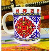 Кружка национальный узор Казахстан фото