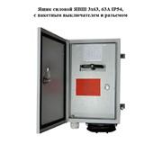 Ящик силовой ЯВШ 3х63, 63А IP54, с пакетным выключателем и разъемом фото