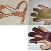 Когти (перчатки), полуперчатка для натяжения тетивы лука кожаные. Днепропетровск. фото