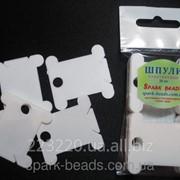 Шпули пластиковые для мулине белые (20 шт) фото