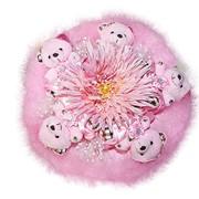 Букет из мягких игрушек Розовая Астра 4028 фото