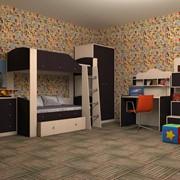 Детская комната Астра 2 дуб молочный/венге фото