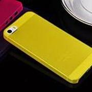 Чехол накладка iHug Rubber Skin Case для iPhone 5С желтая фото