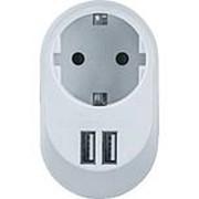 Адаптер Navigator 61454 с з/к + 2 USB разъёма 5В/3,4А /60/ фото
