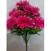 Цветок искусственный 12 цветков хризантем (пурпурное сердце) фото