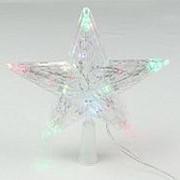 Звезда макушка на елку светодиодная 20см фото
