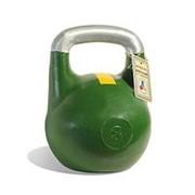 Гиря чемпионская Titan 8 кг (Зеленая с желтой полосой) фото