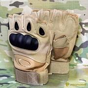 Перчатки тактические Half-Finger Oakley coyote фото