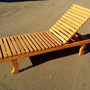 Шезлонг пляжный деревянный _оптом фото