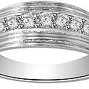 Кольцо мужское классическое с бриллиантами VS1/G 0.60Ct фото