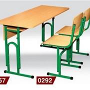 Парты школьные, Столы ученические всех ростовых групп, Стул Т-образный, с регулировкой по высоте фото