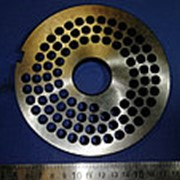 1313.0 Решетка для промышленной мясорубки системы UNGER (Д-130/32мм, раб. отв. 7,8мм) фото