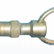 Карабин стальной, диаметр: 14 мм, точеный стальной, покрыт цинком фото